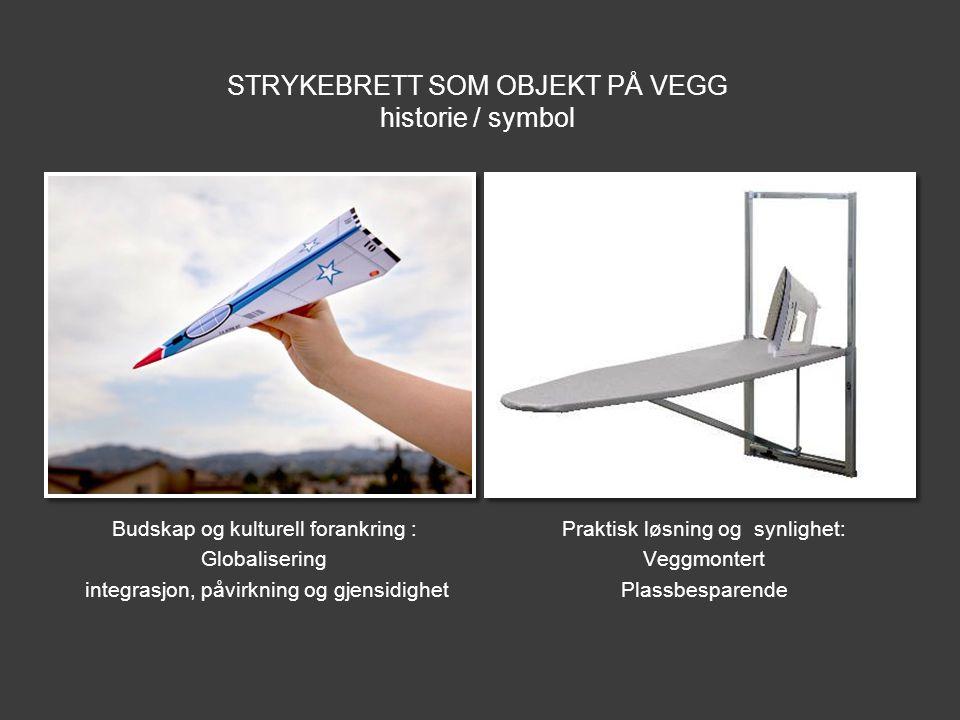 STRYKEBRETT SOM OBJEKT PÅ VEGG historie / symbol