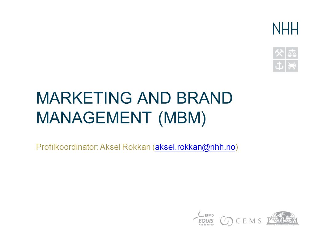 Marketing and Brand Management (MBM)