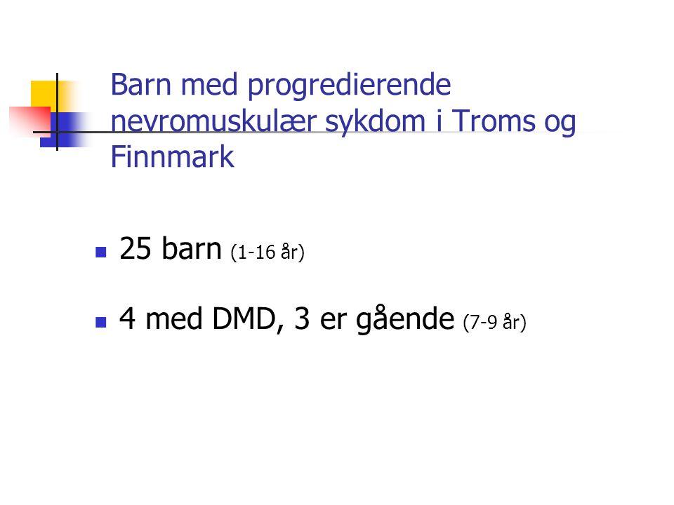 Barn med progredierende nevromuskulær sykdom i Troms og Finnmark