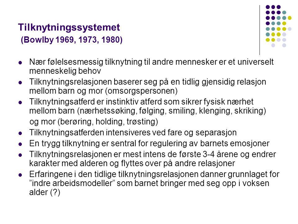 Tilknytningssystemet (Bowlby 1969, 1973, 1980)