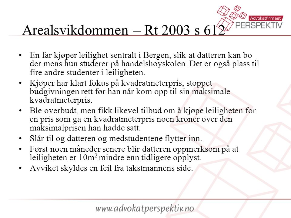 Arealsvikdommen – Rt 2003 s 612