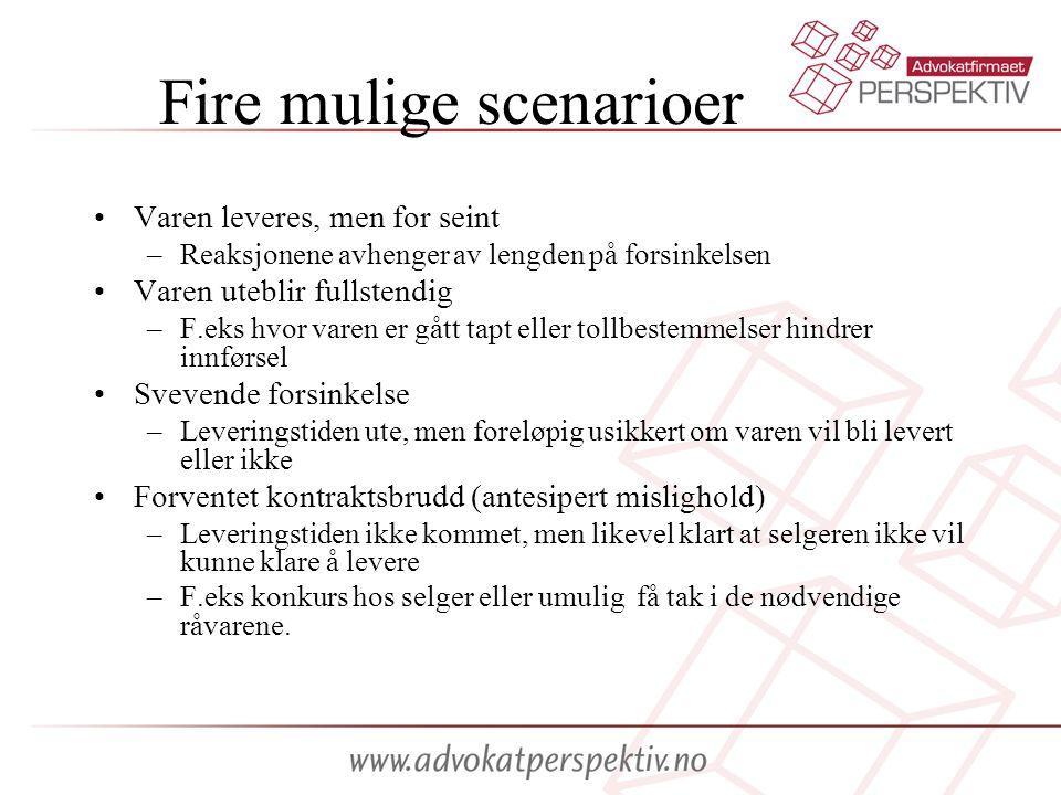 Fire mulige scenarioer