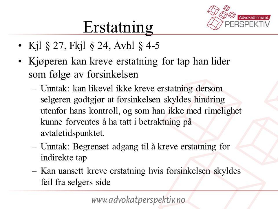 Erstatning Kjl § 27, Fkjl § 24, Avhl § 4-5