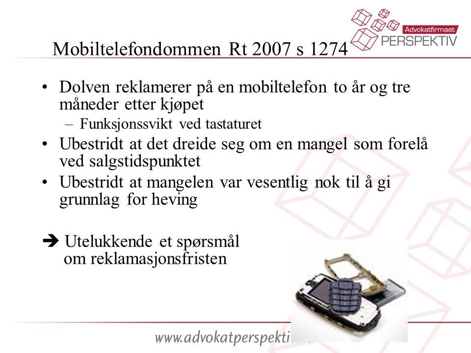 Mobiltelefondommen Rt 2007 s 1274