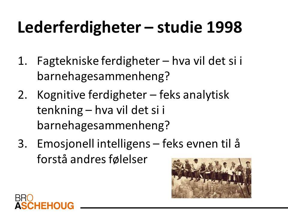Lederferdigheter – studie 1998