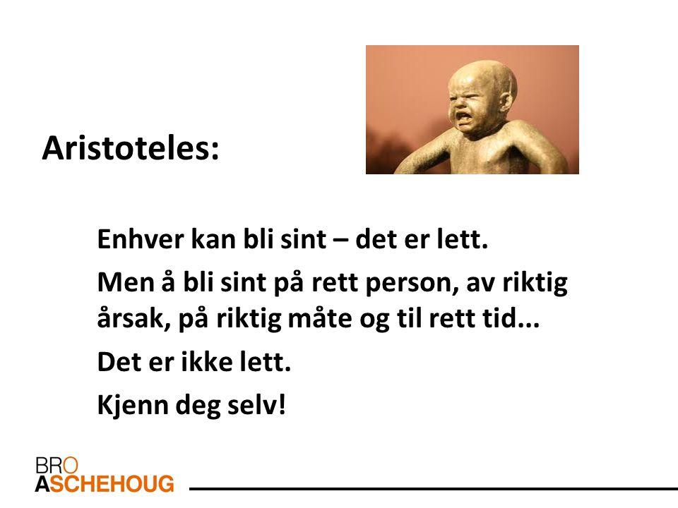 Aristoteles: Enhver kan bli sint – det er lett.