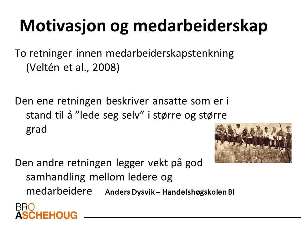 Motivasjon og medarbeiderskap