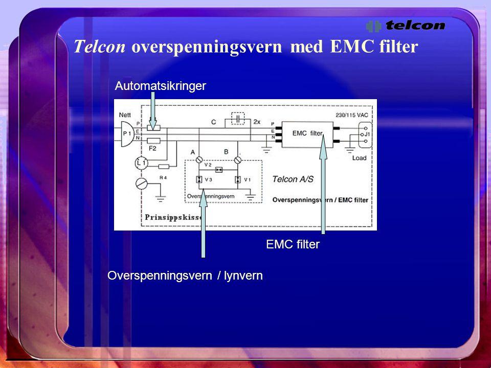 Telcon overspenningsvern med EMC filter