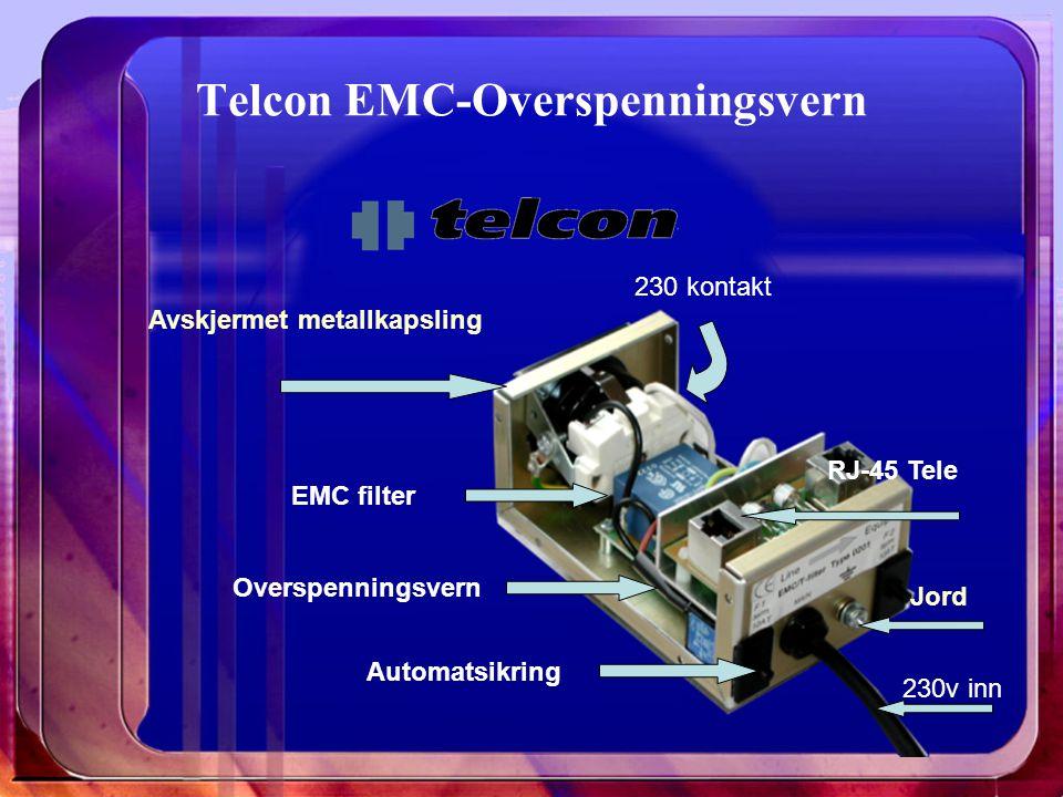 Telcon EMC-Overspenningsvern