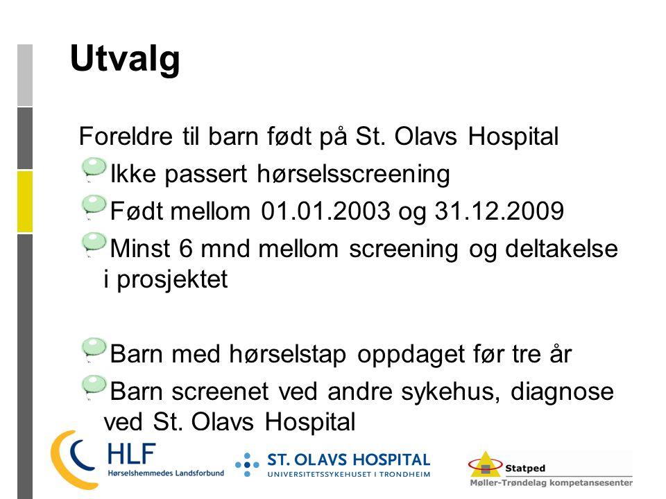 Utvalg Foreldre til barn født på St. Olavs Hospital