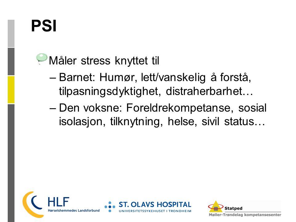 PSI Måler stress knyttet til