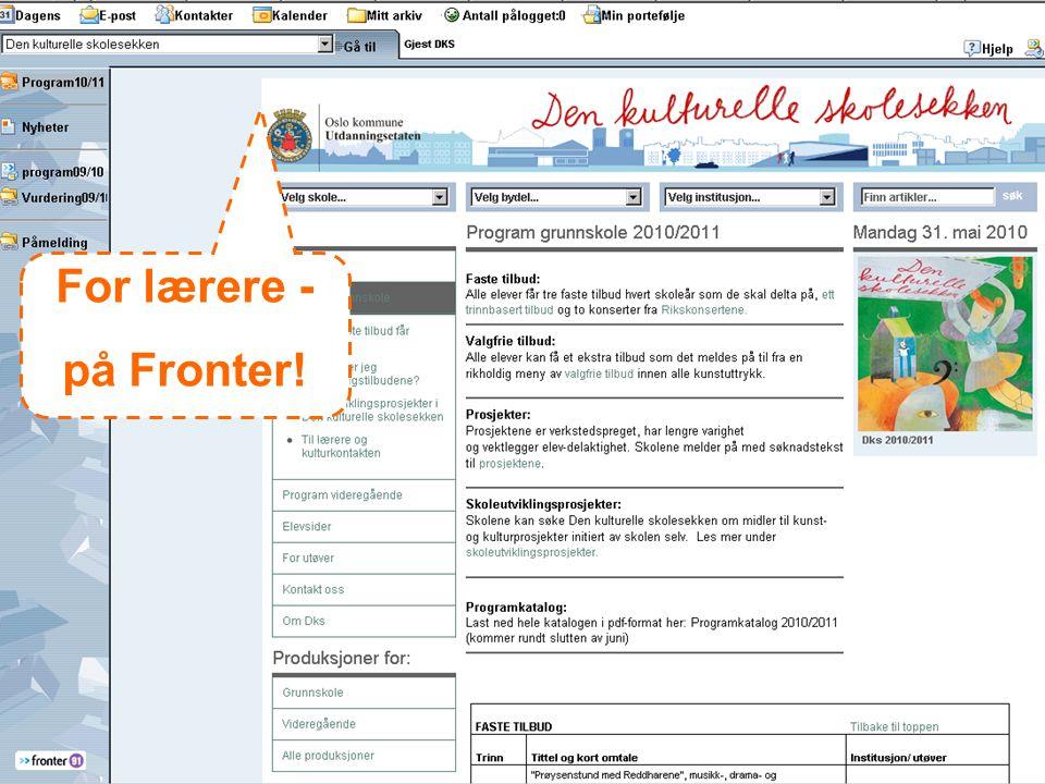 For lærere - på Fronter!