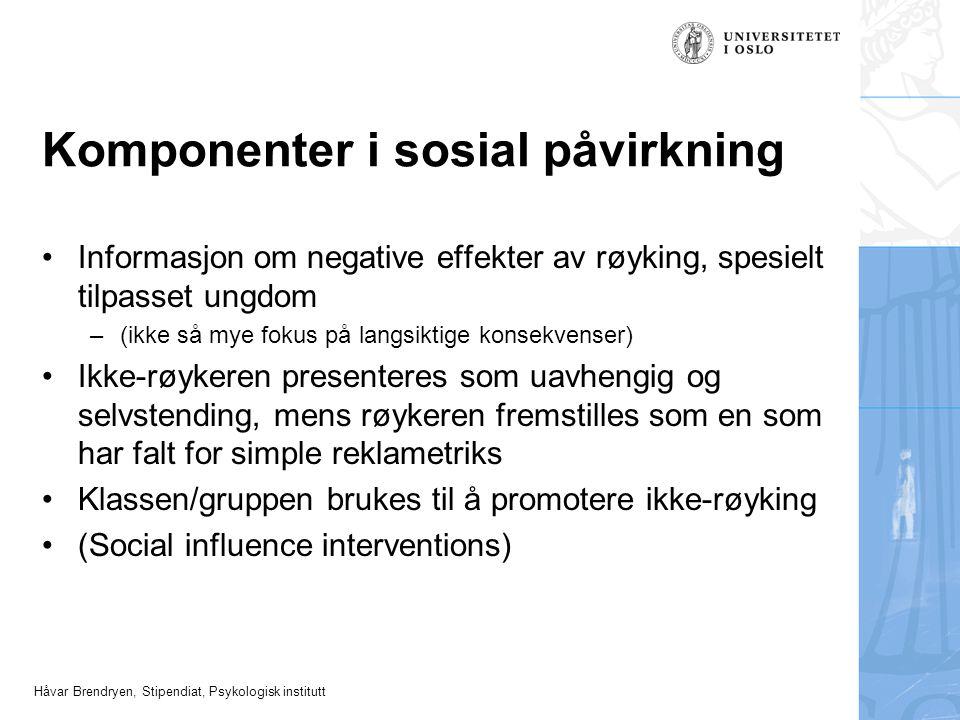 Komponenter i sosial påvirkning