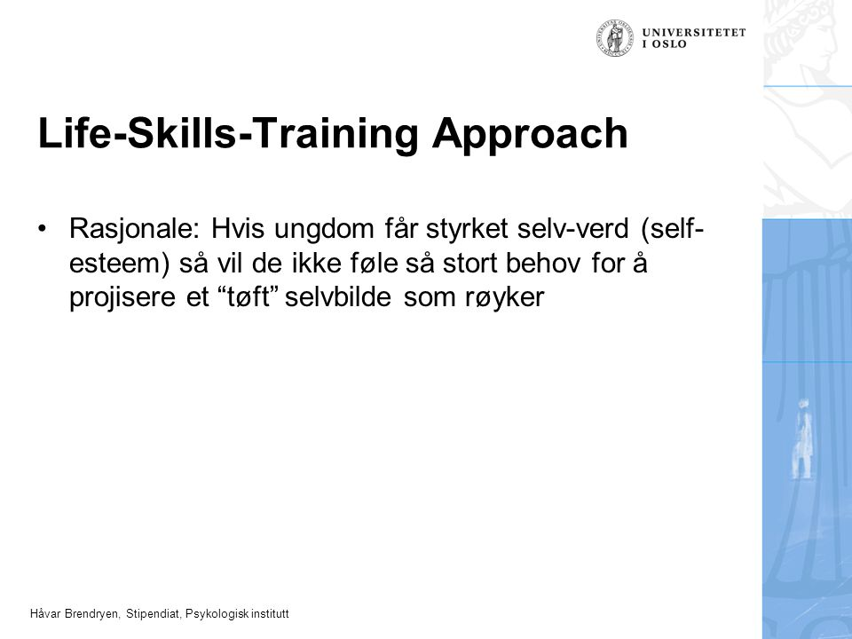 Life-Skills-Training Approach