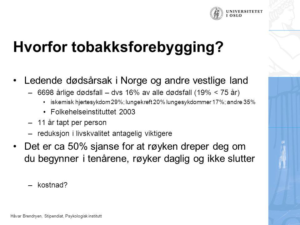 Hvorfor tobakksforebygging