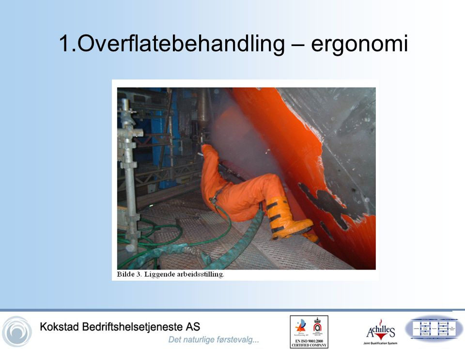 1.Overflatebehandling – ergonomi