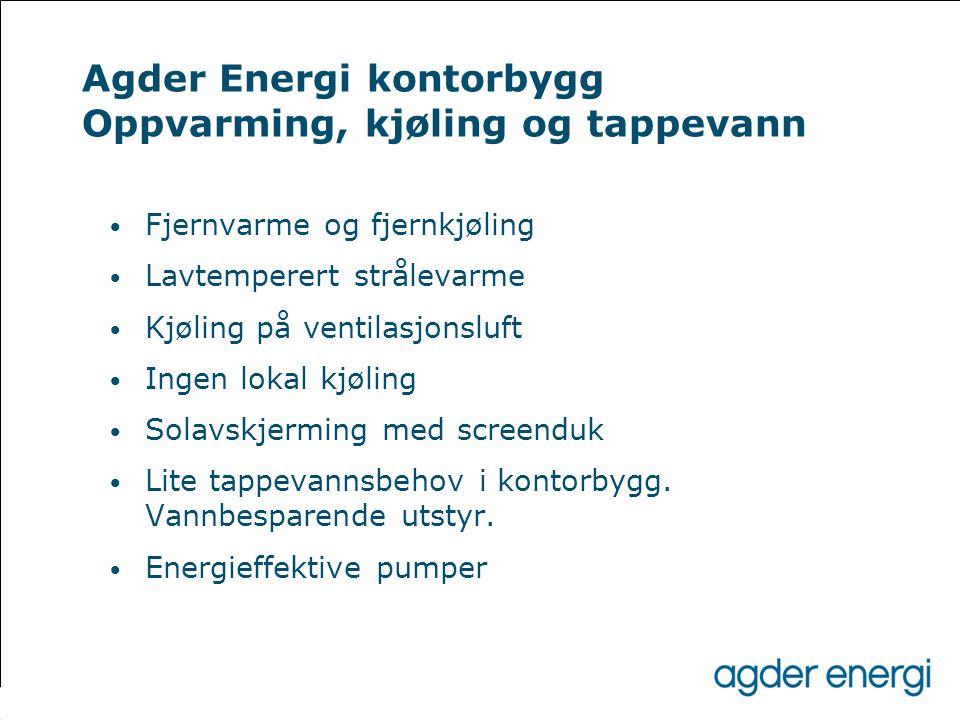 Agder Energi kontorbygg Oppvarming, kjøling og tappevann