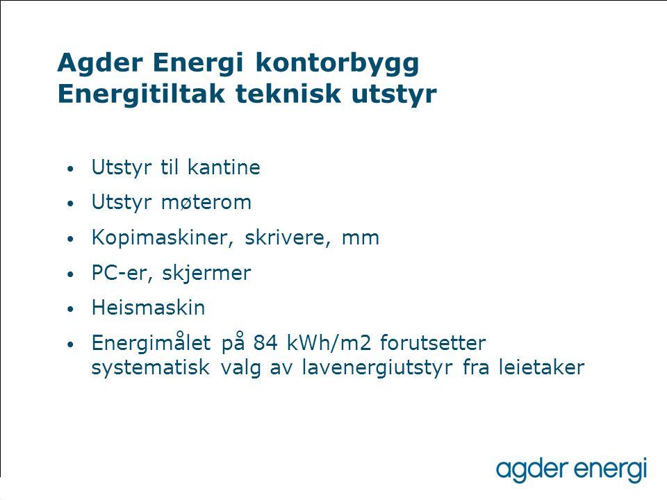 Agder Energi kontorbygg Energitiltak teknisk utstyr