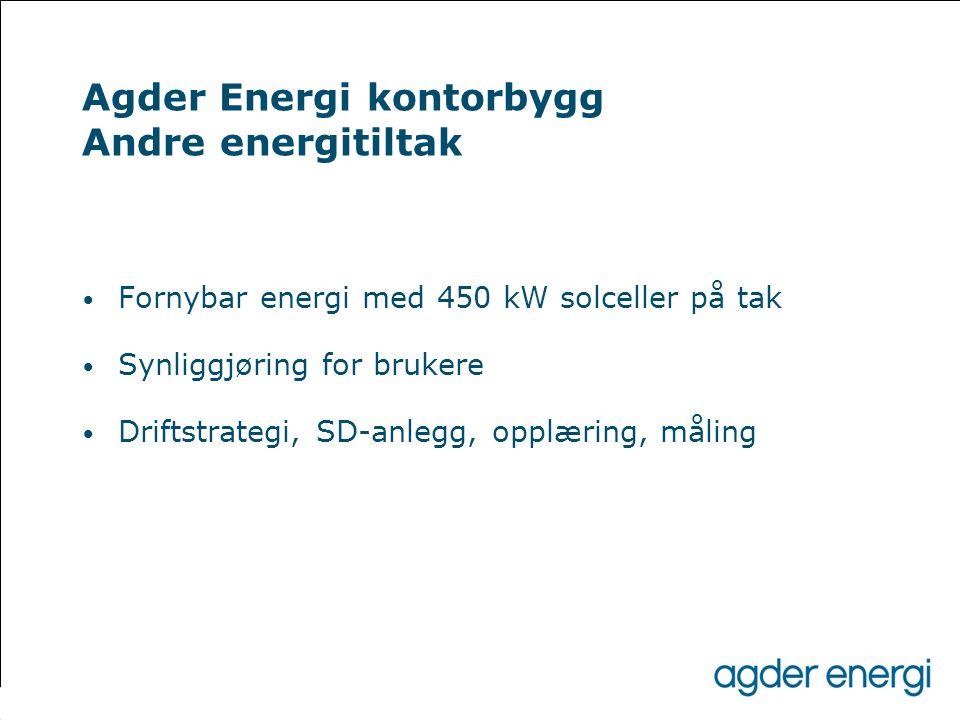 Agder Energi kontorbygg Andre energitiltak