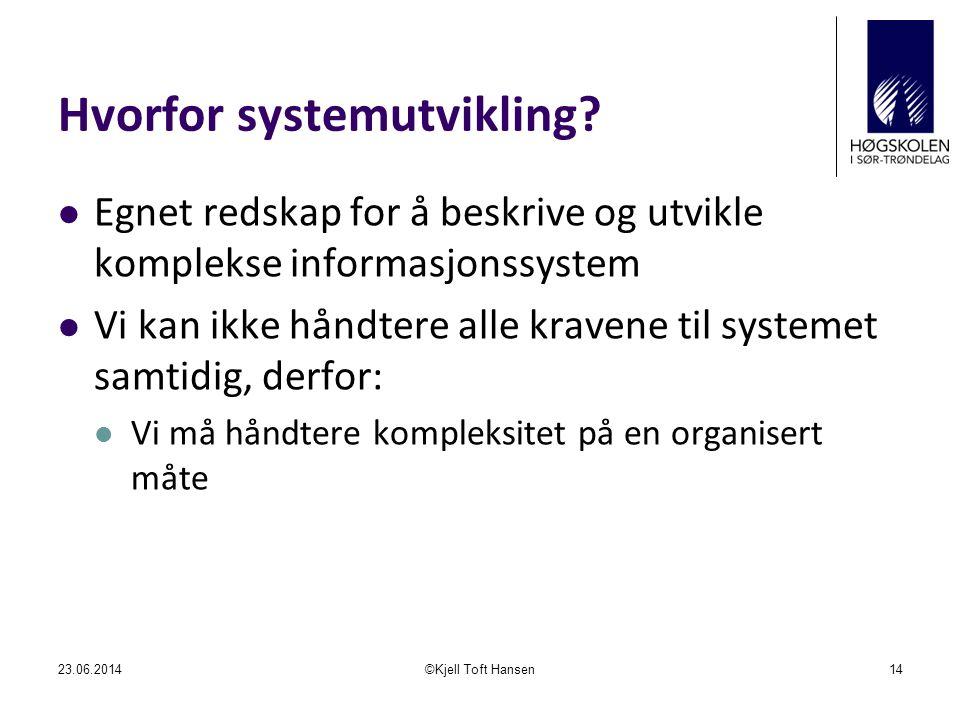 Hvorfor systemutvikling