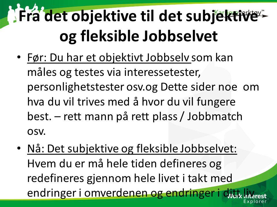 Fra det objektive til det subjektive og fleksible Jobbselvet