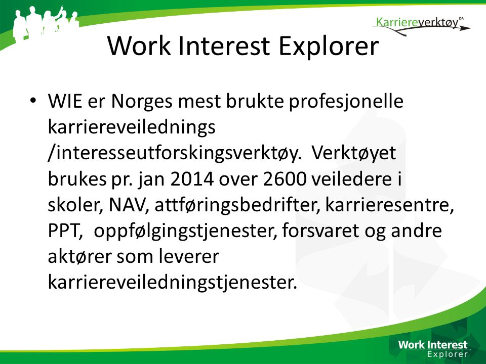Work Interest Explorer