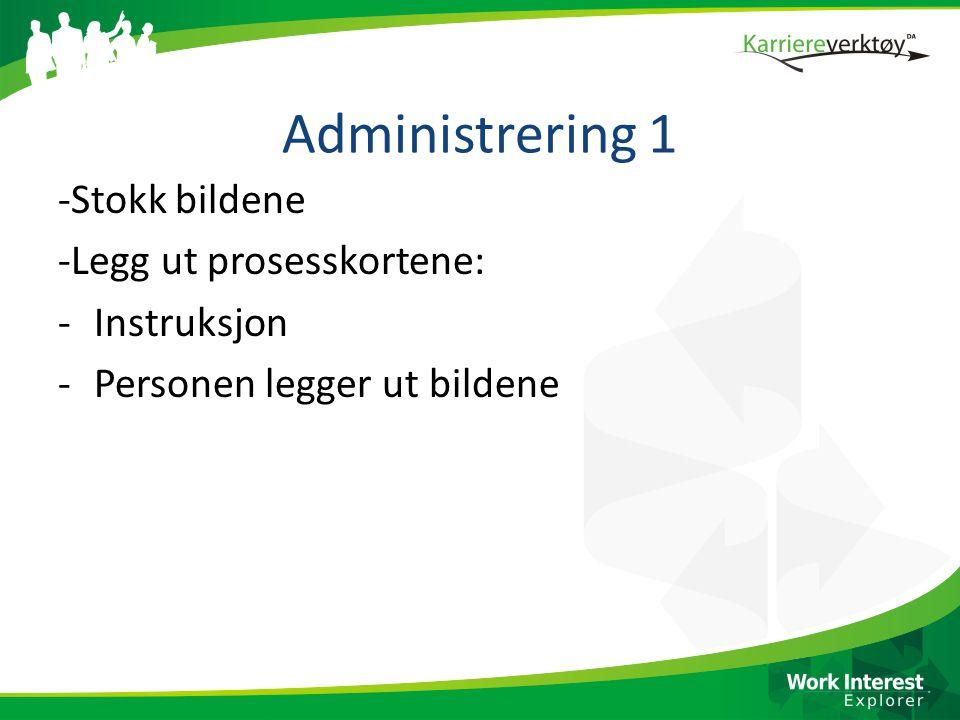 Administrering 1 -Stokk bildene -Legg ut prosesskortene: Instruksjon