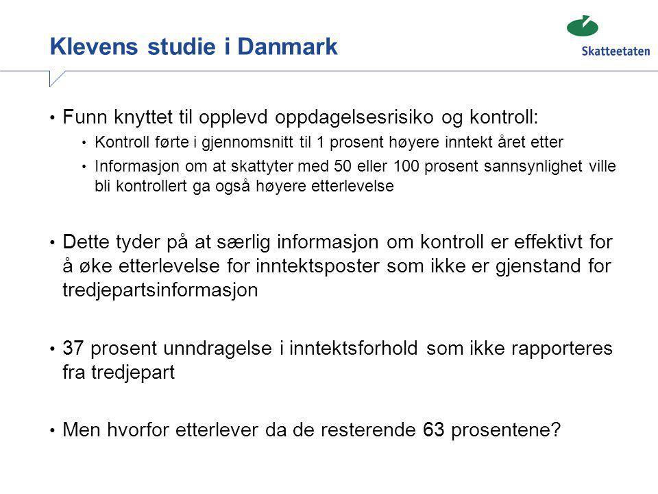 Klevens studie i Danmark