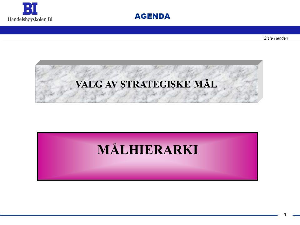 VALG AV STRATEGISKE MÅL