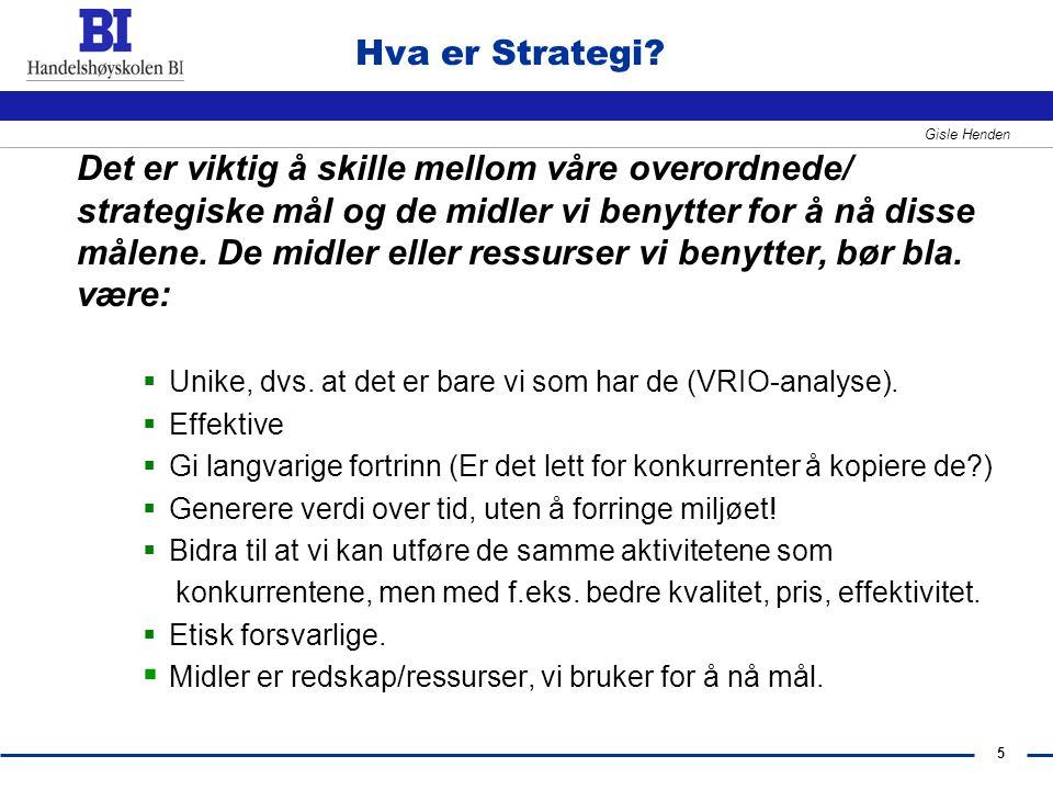 Hva er Strategi