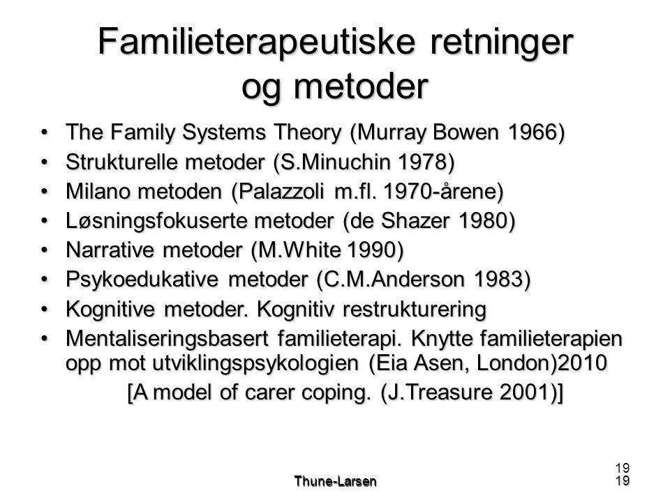 Familieterapeutiske retninger og metoder