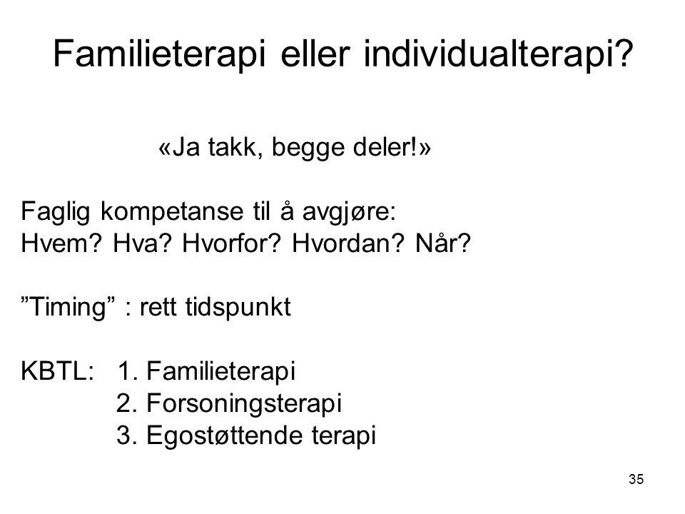 Familieterapi eller individualterapi