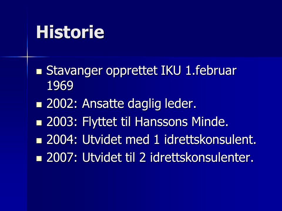 Historie Stavanger opprettet IKU 1.februar 1969