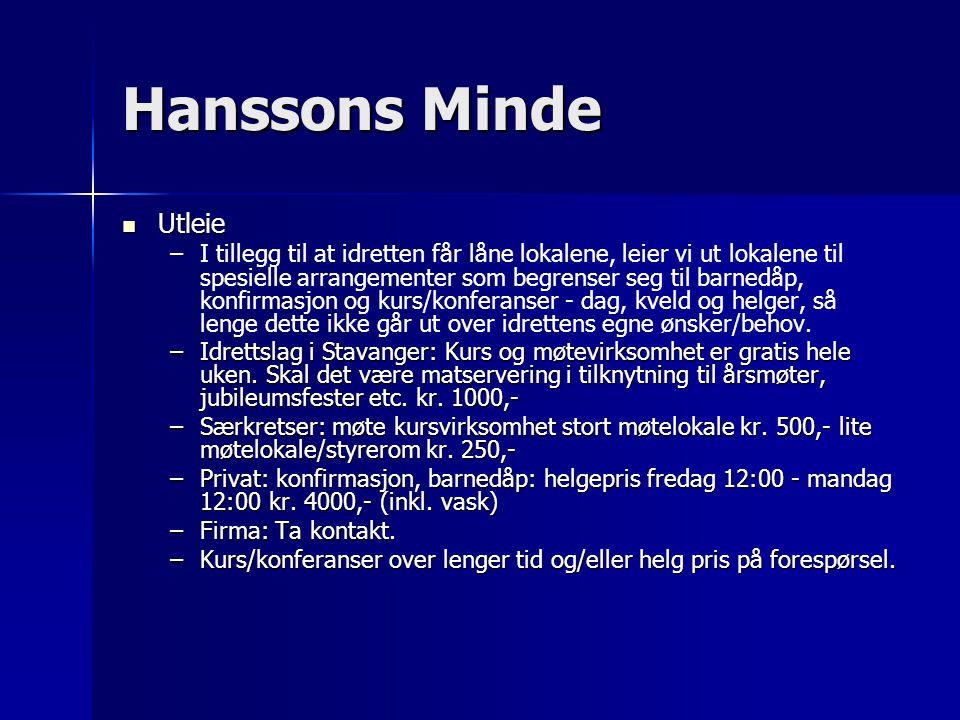 Hanssons Minde Utleie.