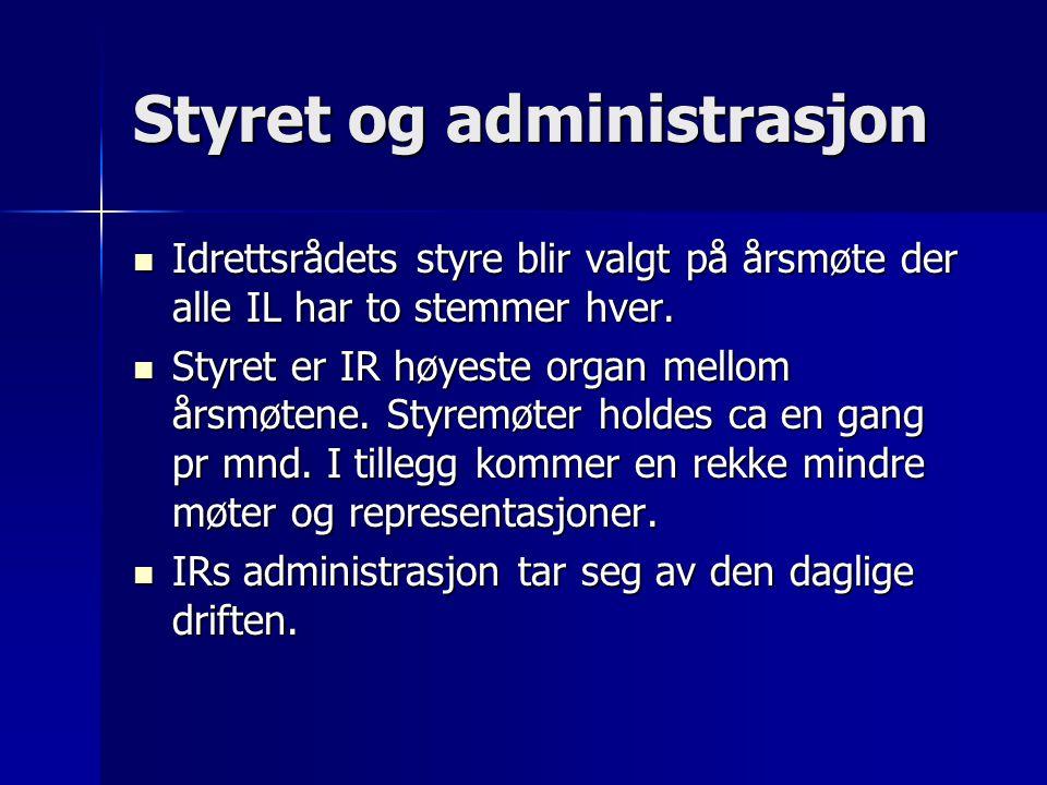 Styret og administrasjon