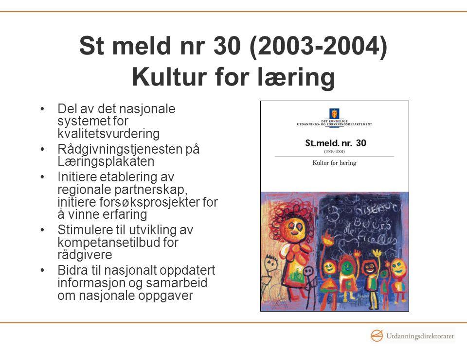St meld nr 30 (2003-2004) Kultur for læring