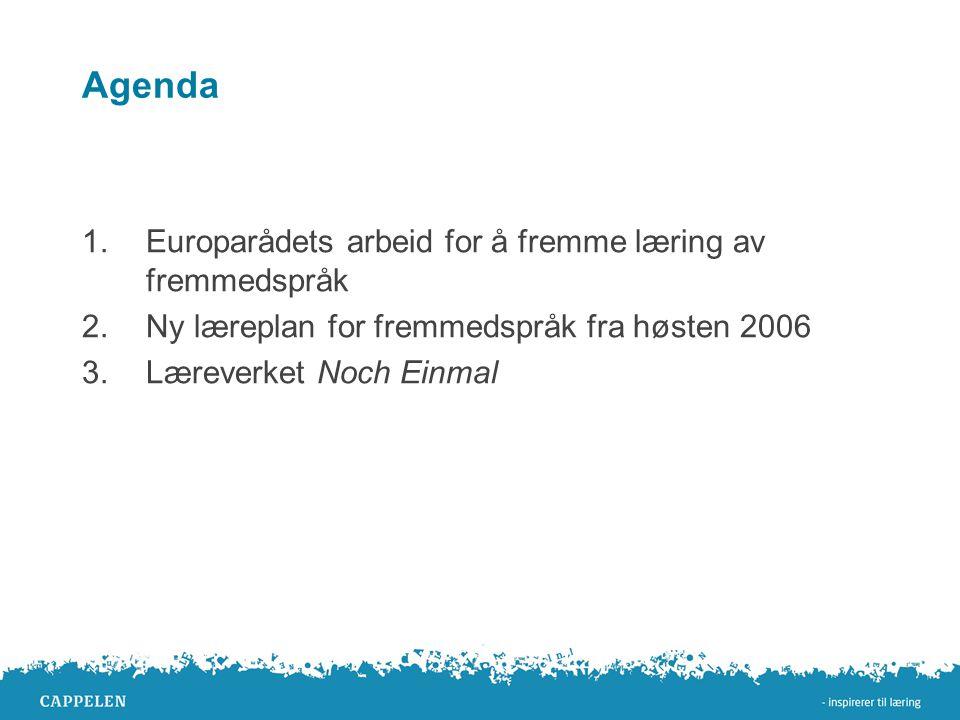Agenda Europarådets arbeid for å fremme læring av fremmedspråk