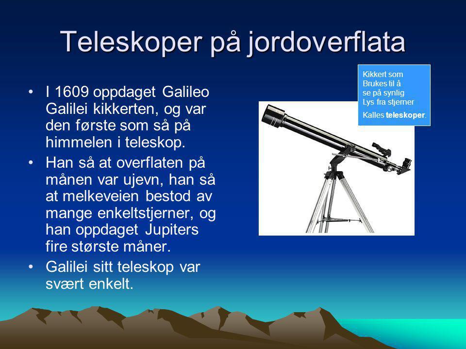 Teleskoper på jordoverflata
