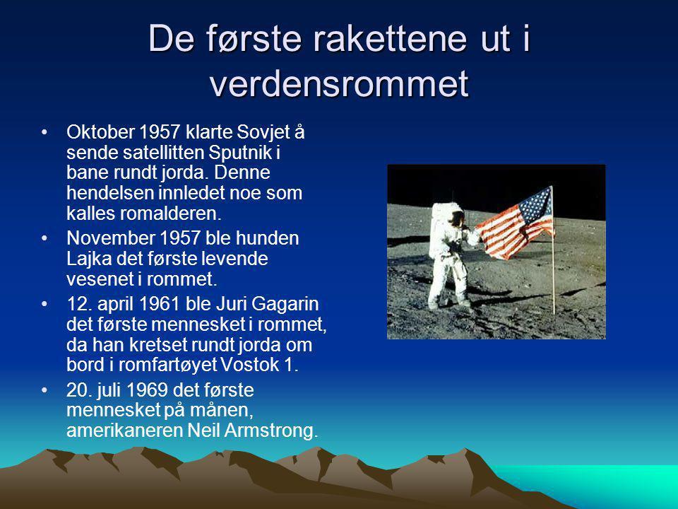 De første rakettene ut i verdensrommet