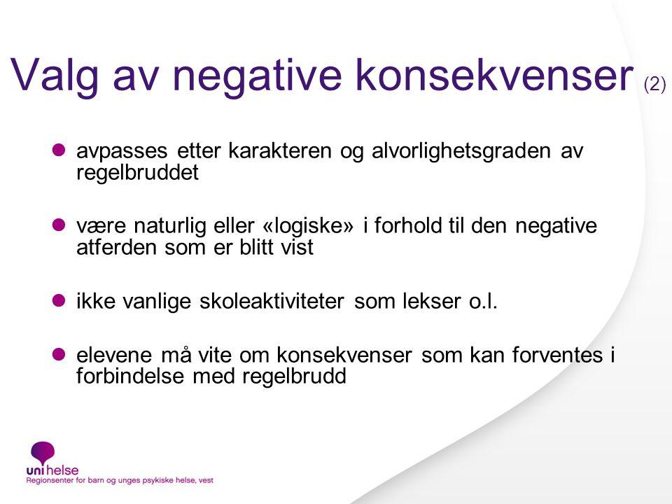Valg av negative konsekvenser (2)