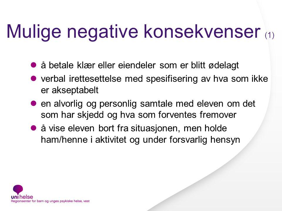 Mulige negative konsekvenser (1)