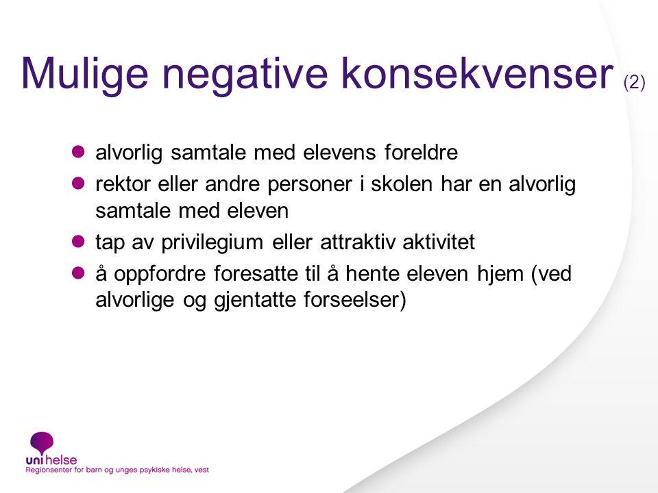 Mulige negative konsekvenser (2)