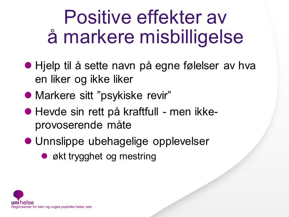Positive effekter av å markere misbilligelse