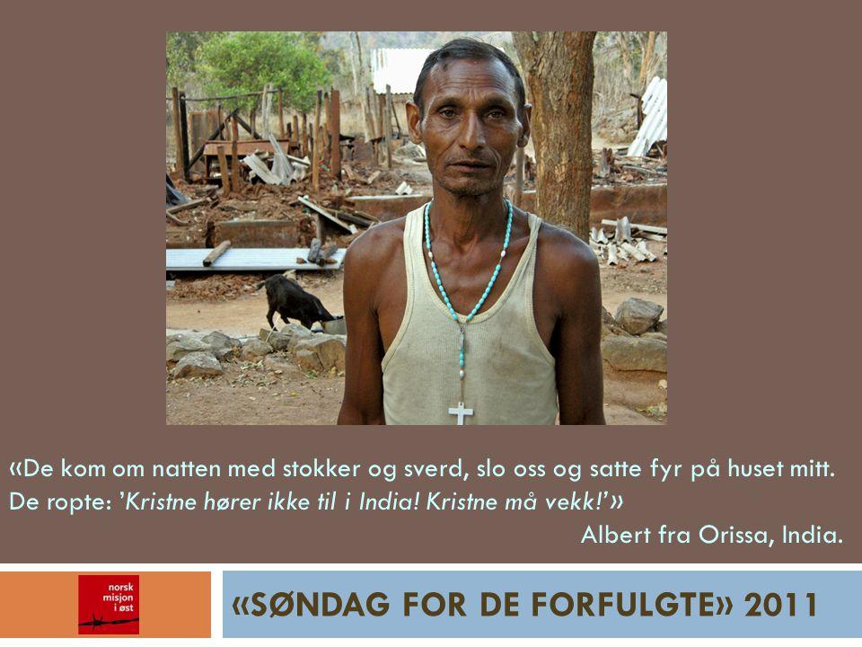 «SØNDAG FOR DE FORFULGTE» 2011