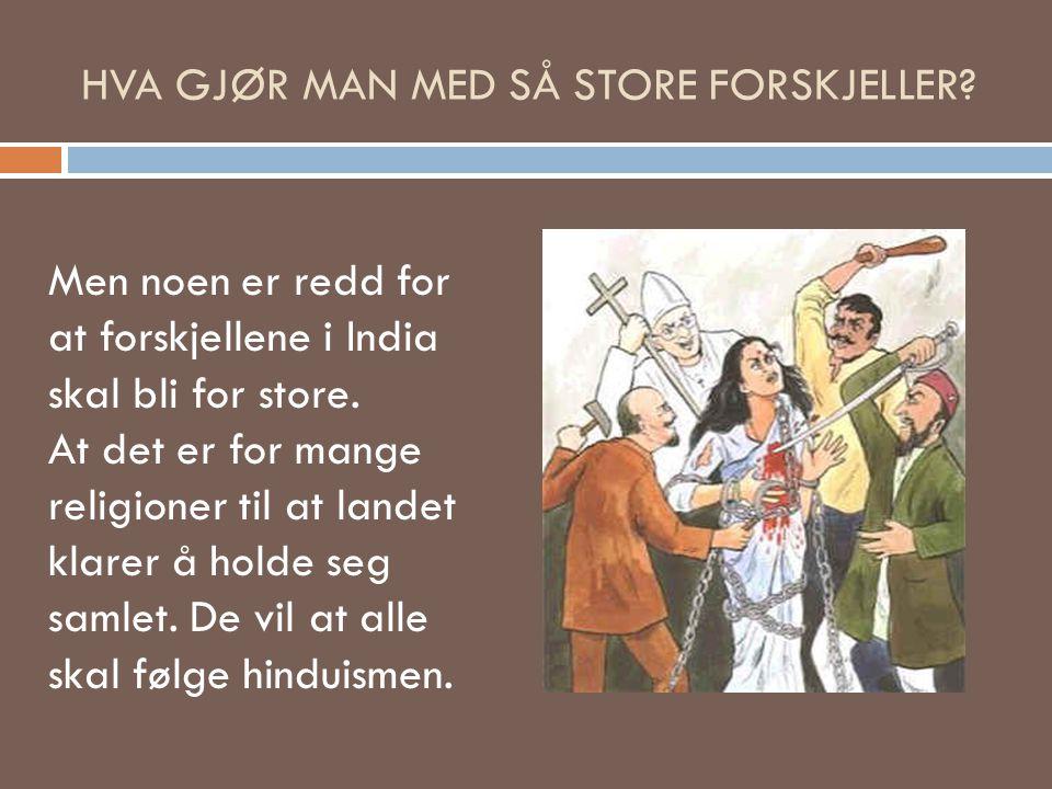 HVA GJØR MAN MED SÅ STORE FORSKJELLER