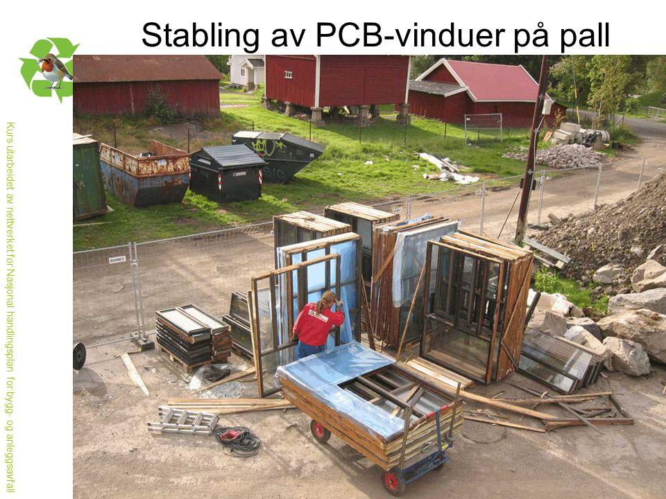 Stabling av PCB-vinduer på pall