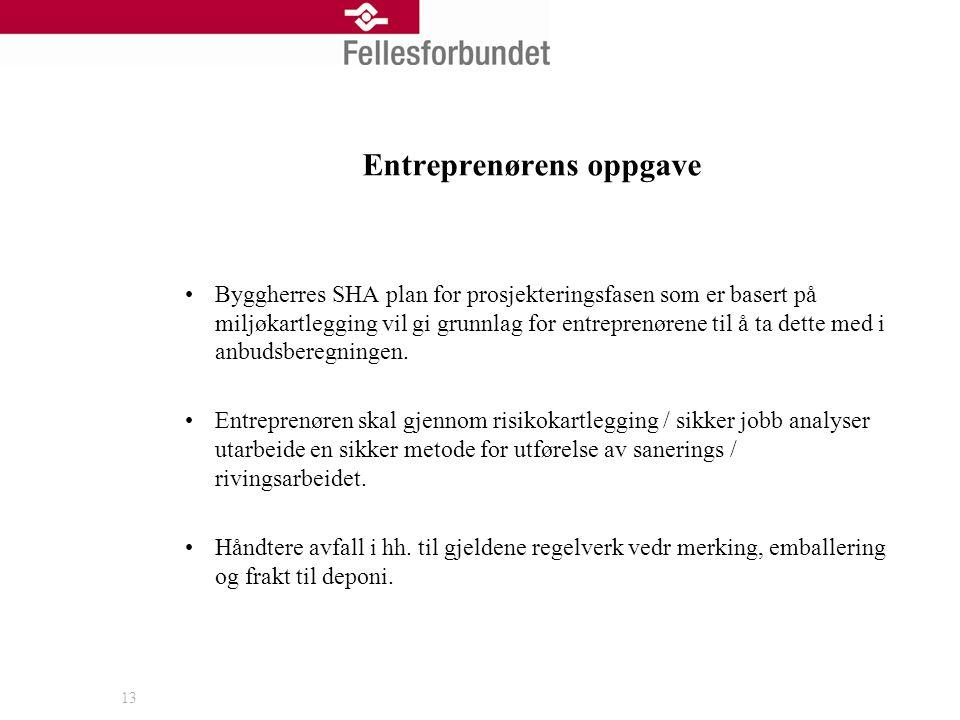 Entreprenørens oppgave