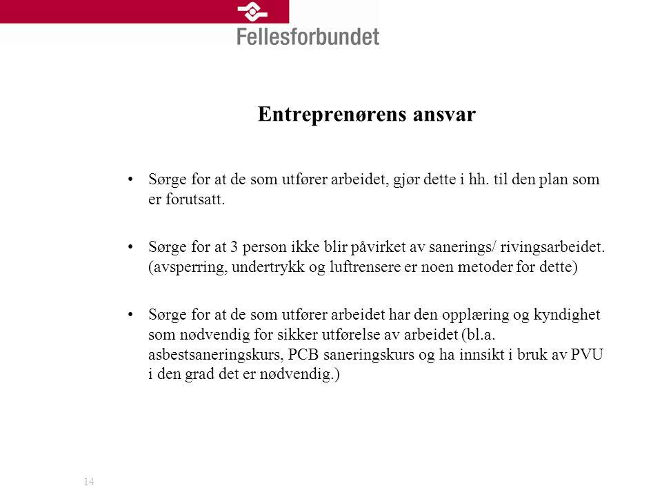 Entreprenørens ansvar