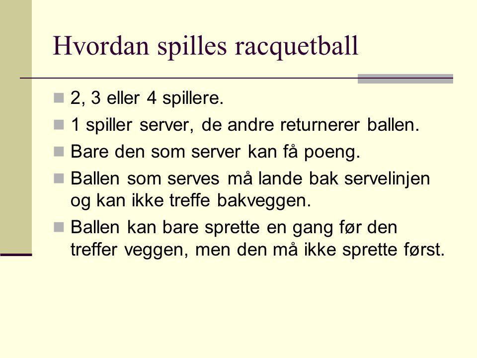 Hvordan spilles racquetball