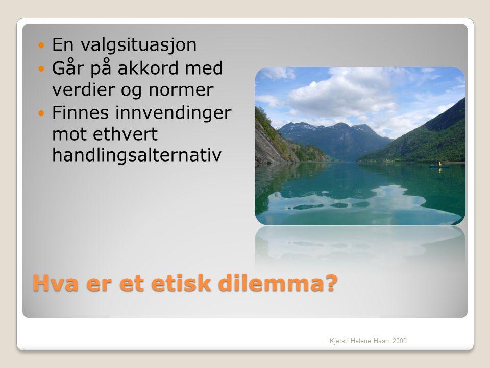 Hva er et etisk dilemma En valgsituasjon